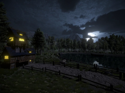 Talking Nights , Game Level Design in #Unity3D using Universal R