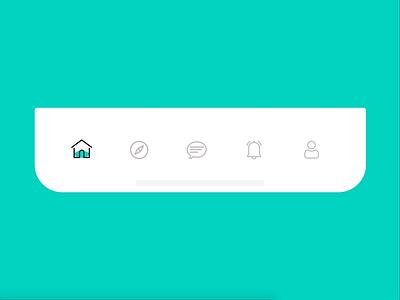 Tab Bar Animation interaction design tabbar animation tabbar animation icon illustration ux design graphicdesign mobile app design ui design
