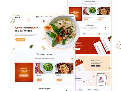Food Order Webpage Design web icon ux ui branding design vector graphicdesign ux design ui design