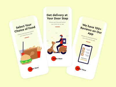 Food Delivery Onboarding UI Design design illustration art illustration vector graphicdesign ui design