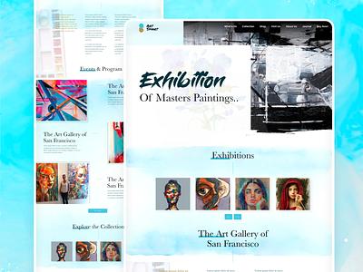 Painting Exhibition Webpage Ui uiuxdesign paintingwebsite exhibitionwebsite exhibitioui webpage ux design ui design