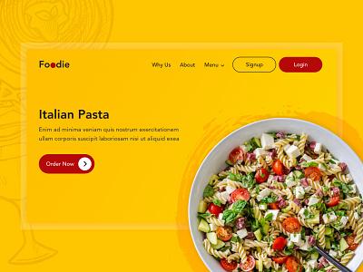 Food Banner Design italian pasta food banner banner ui design ux design ui design