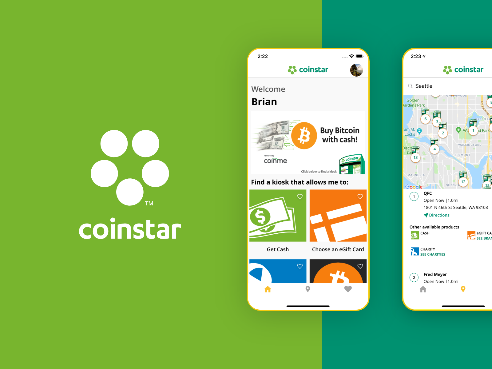 CoinStar Mobile App Design by Mobcoder LLC on Dribbble