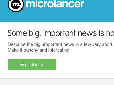 EDM build - header/intro microlancer envato edm newsletter blocky