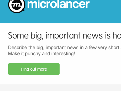 EDM build - header/intro microlancer envato edm newsletter blocky