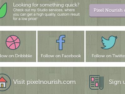 New Envato description graphics pixel nourish marketplace refer social green cta envato graphics