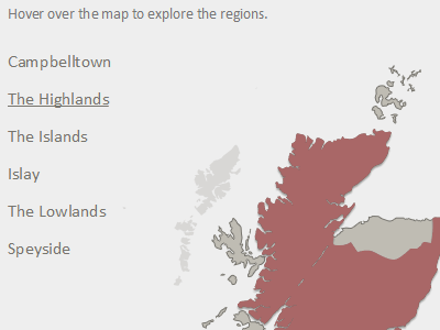 Interactive Map pixel nourish small project code scotland map