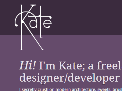 I'm a bit rusty... futuracha web design kate anderson personal kate purple