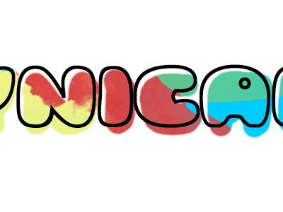 Small logo design multicolour logo bubble colours splat