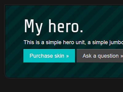 Bootstrap Skin css codecanyon bootstrap browser skin twitter bootstrap teal work in progress hero unit