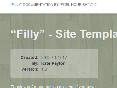 Filly - Documentation documentation filly green wood bootstrap browser