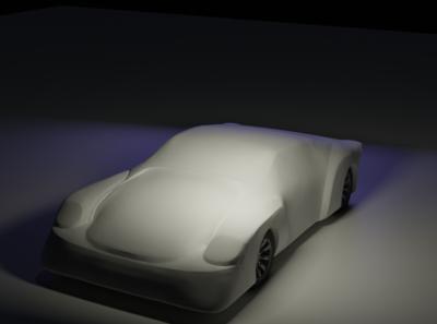 My first Car Concept Sculpt