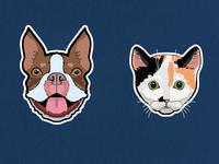 Pet Portrait Stickers