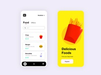 Food App art identity apple ios illustrator ux uiux ui  ux uidesign ui color illustration branding c4dart brand identity blender3d blender adobexd adobe 3d art