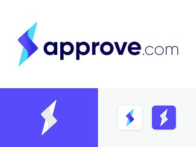 approve com logo purchase request figma design vector startup logo procurement saas