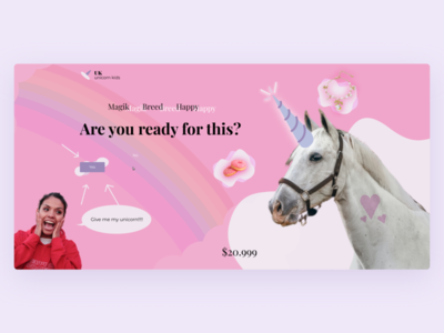 Unicorn shop uidesign kids ui design shop unicorn website web ux ui design