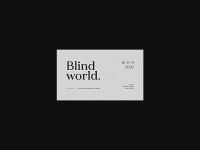 card#001 – Blind world. poster design posters design typography card card design