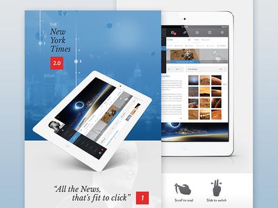 The New York Times 2.0 [Ipad App] flat newspaper rss feed app ui ux user interface ipad flat design profile