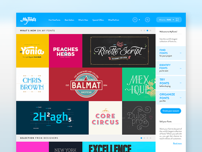 Myfonts - Homepage [Experiment]