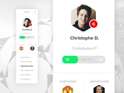 Football UI - Profile