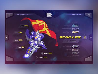 LBX - Character Selection minimal clean game menu interface psvita ui ux flat japan webdesign design