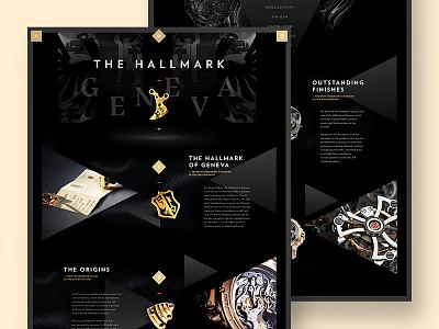 Roger Dubuis - Hallmark of Geneva swiss watch luxury menu navigation flat store ux ui minimal webdesign