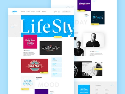 Myfonts 2K16 - Home homepage navigation webdesign ux ui dashboard minimalist grid interface typography clean flat