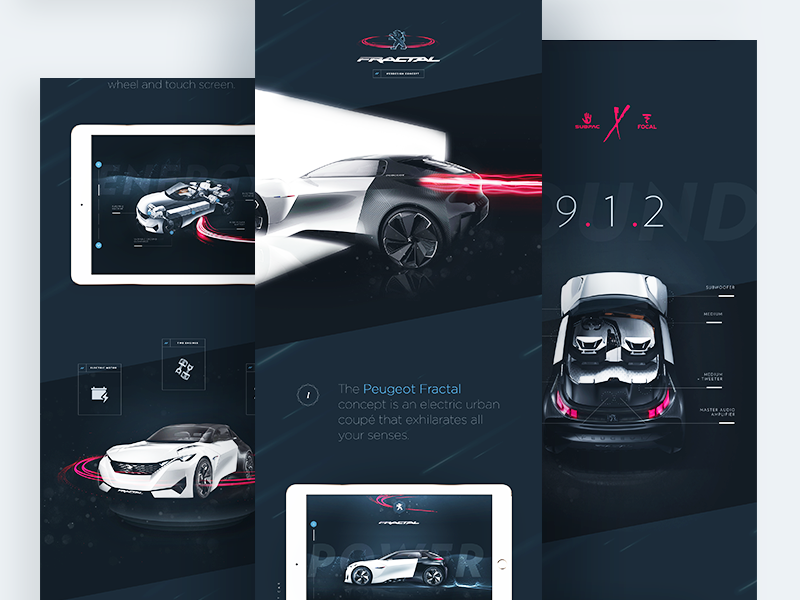 Peugeot™ Fractal - Case Study design webdesign home flat ux ui case study interface peugeot car clean minimal