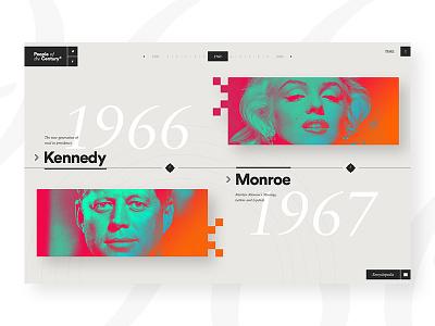 Time Magazine — People of the Century ux ui news kennedy monroe minimal elegant design webdesign flat magazine time