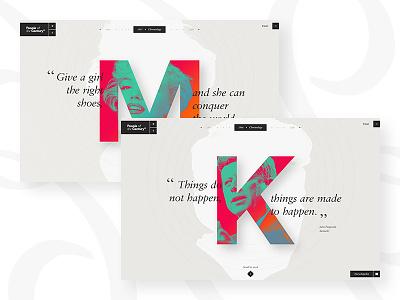 Time Magazine — Personnality Portrait time magazine flat webdesign design elegant minimal monroe kennedy news ui ux