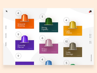 Nespresso — Capsule Showcase webdesign app mobile nespresso design elegant dashboard minimal ui ux desktop