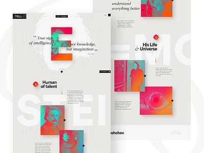 Time Magazine — Portrait Details ux ui news einstein minimal elegant design webdesign flat one page magazine time