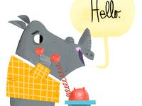 Rhino On Phone