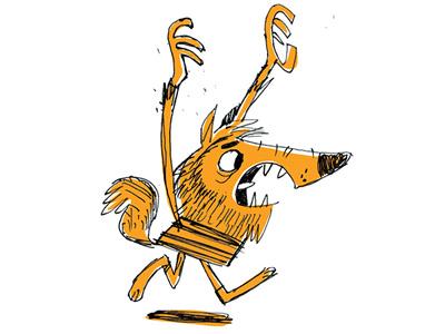 Kyle The Wolfman halloween inktober monster wolfman illustration