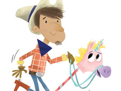 Unicorn Cowboy colourcollective unicorn illustration cowboy