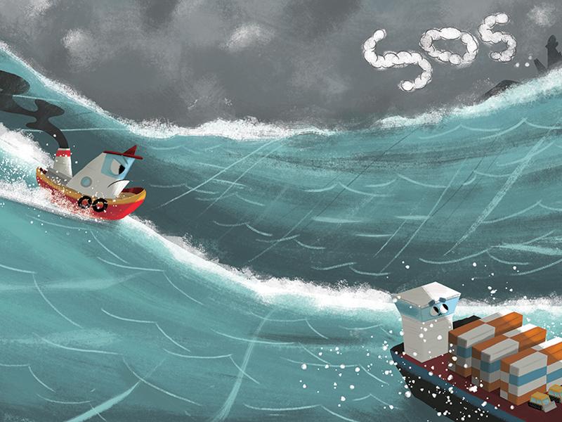 Tough tug storm