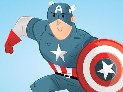 Captain America kids art super heroes children book comics comic illustration