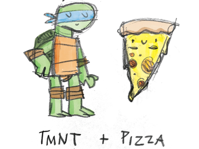 Classic combinations 2 sketch pizza teenage mutant ninja turtles tmnt turtle