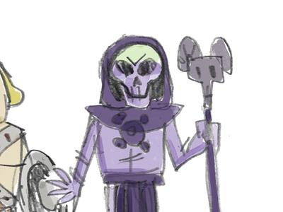 Skeletor fanart character illustration sketch