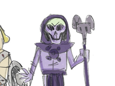 Skeletor fanart character illustration sketch