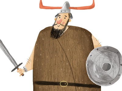 Viking viking character illustration