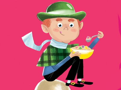 Lucky Charms st patricks day holiday digital illustration illustration art