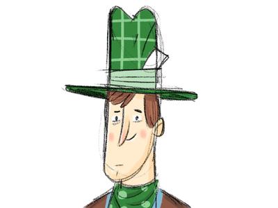 Cowboy character illustration cowboy sketch