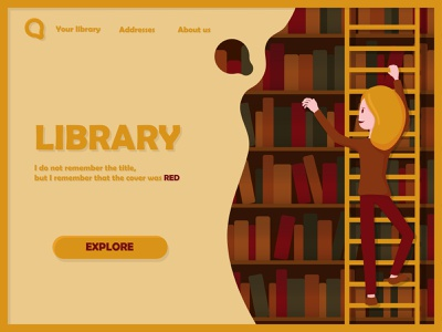 Take a library with you book library guide page flat design app design illustrator character design illustration vector uidesign ui