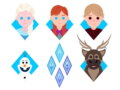 Into the unknown movie art christmas winter icon icon set flat design character design illustrator flat design vector illustration frozen2 frozen