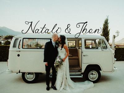 Natali & Jhon    Malikian script font