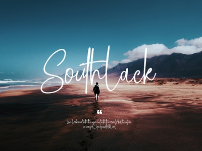 Southlack Signature Fonts type lettering website minimal design branding animation typography logo illustration