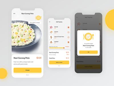 Nasi Goreng App ux app ui design