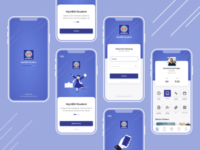 MyUBSI Student Redesign app login ux design ui