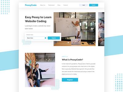 PeasyCode Website Design branding button details web design ux ui design